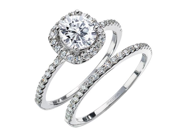 Ancora Engagement Ring Set
